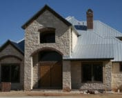 Metal Roof on a beautiful Texas stone home